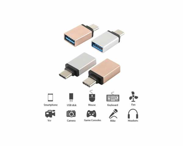 USB-C Male to USB 3.0 Female OTG Adapter