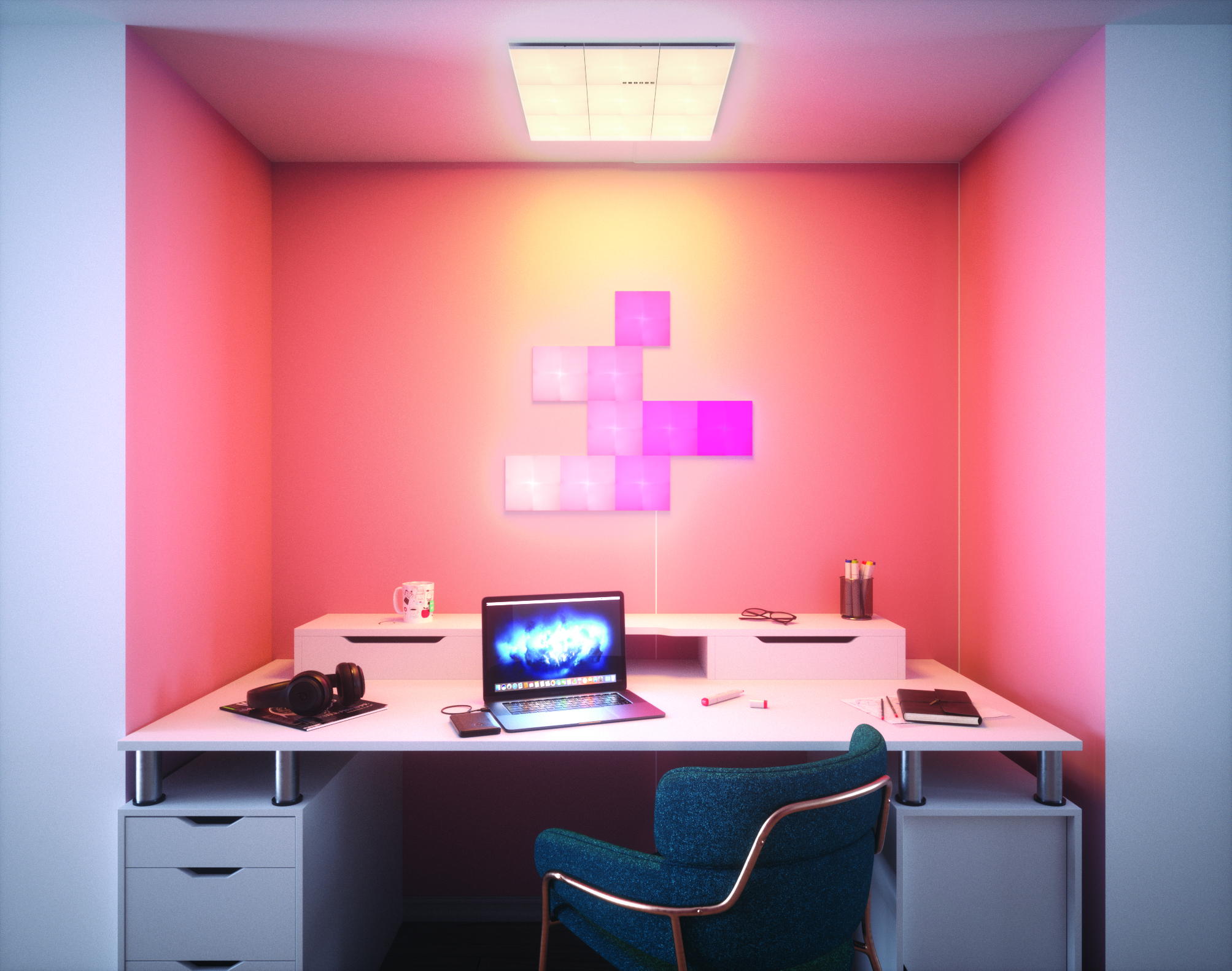 Nanoleaf-Canvas_study-desk_white-light