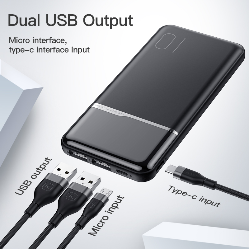 KUULAA-Power-Bank-10000-mAh-Tragbare-Aufladen-Power-10000-mAh-USB-PoverBank-Externe-Batterie-Ladeger-t
