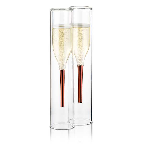 "Design Champagner Flöten ""Inside Out"" (2er Set)"